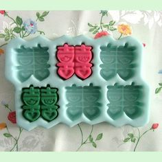 6-cavity Happiness Soap Mold Soap Mould Silicone by soapmoldiy