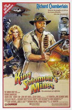 King Solomon's Mines (1985) Stars: Richard Chamberlain, Sharon Stone, Herbert Lom, John Rhys-Davies ~ Director: J. Lee Thompson (Nominated for 2 Razzie Awards 1986)