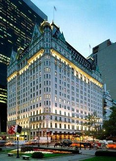 The Plaza Hotel, New York City.... love this hotel another one of my favorite hotels.