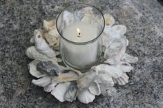 Oyster Shell Candle Holder on Etsy, $29.00