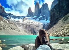 Backpacking route-Santiago to Patagonia, Chile. Torres del paine national park.