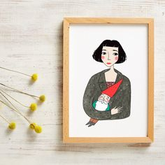 Amelie Poster Print by andsmile on Etsy Amelie, Illustrations, Illustration Art, Poster Prints, Art Prints, Posters, Watercolor Drawing, Dorm Decorations, Cute Art