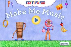 Make Me Music ($1.99) Play your bread box or didgeridoo, make water glasses sing, or pluck a kalimba. Everything you tap becomes a musical instrument. Learn about melodies, rhythms, glissandos & more. For ages 3+.  *24 animated instruments including found objects like pots and pans, & unusual classical world instruments like the marimba *3 original instrumental melody tracks to play along with  *12 unique rhythm palettes   *RECORD & SHARE feature that lets you email your creation.