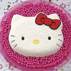 What's sweeter than Kitty White? A Hello Kitty cake! Get all the details to make your own when you click!