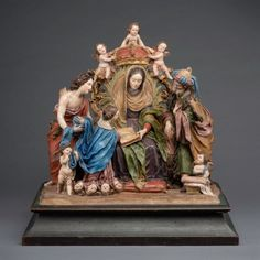 Blanton Museum, Fontanini Nativity, Jesus Christ Images, Metal Crown, Santa Ana, St Anne, Saints, King Jr, Large Art