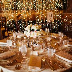 silver, gold wedding reception | http://amazingweddingdressphotos ...