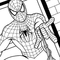 SPIDERMAN COLORING: SPIDERMAN COLORING PAGES