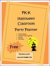 Free Halloween classroom party planning guide for preschool and kindergarten via www.pre-kpages.com