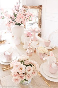 - A Darling Daydream , Easter, spring home decor, home deco. Easter Table, Easter Party, Easter Dinner, Easter Brunch, Feminine Decor, Tea Party Theme, Spring Aesthetic, Beautiful Table Settings, Spring Home Decor