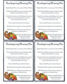 Thanksgiving blessing mix