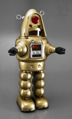Gold 1-i ROBOT Robby wind-up tin toy by Robot Island | Flickr - Photo Sharing!
