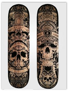 Laser etched engraved skate decks.