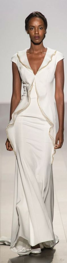 Leila Nda for John Paul Ataker Spring 2018 Fashion Show, Fashion Outfits, Fashion Design, Black Tie Attire, White Elegance, High Fashion Photography, Fashion Week 2018, Ballroom Dress, John Paul