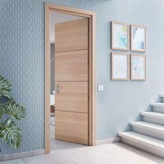 Bedroom Door Design, Home Design Living Room, Door Design Interior, Modern Interior, Front Door Paint Colors, Painted Front Doors, Flush Door Design, Teal Door, Wooden Door Design