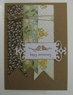 Happy Anniversary, Anniversary Cards, Little Birdie, Stamp Pad, Ink Stamps, Stamping, Paper Crafts, Inspiration, Happy Aniversary