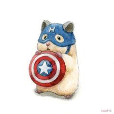 Cute Animal Drawings, Cute Drawings, Pollo Animal, Japanese Hamster, Atrapasueños Tattoo, Funny Hamsters, Dibujos Cute, Cute Little Animals, Cute Cartoon Wallpapers