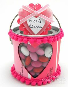 Valentines Day Mini Paint Can Candy Treat Gift by KY Southern Belle - Cards and Paper Crafts at Splitcoaststampers
