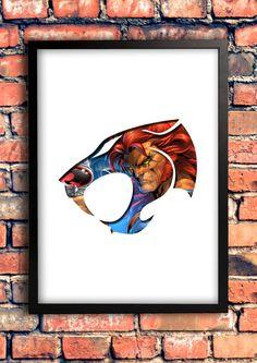 Thundercats Lion-o Logo Art by GeekOnFire on Etsy