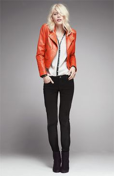 Truth & Pride Perforated Leather Biker Jacket