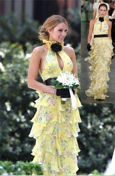 Gossip Girl Blake in Ralph Lauren's Ruffled Fillipa Dress from Spring 2008 Collection. Absolutely stunning!