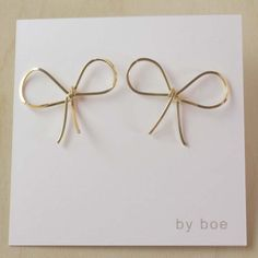 I Need these Bow Earrings. $50