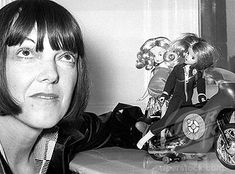 Mary Quant with her 1970s dolls Daisy and Havoc, the Secret Agent