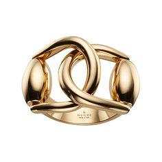 Gucci Horsebit 18ct Yellow Gold Ring