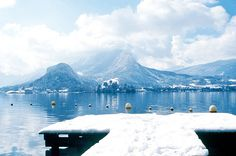 Lake Annecy in the winter looks so beautiful..