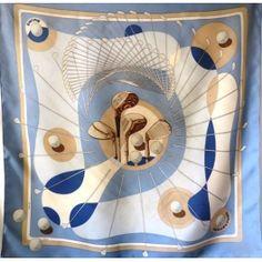 Hermès, SWING, Foulard carré en soie, scarf, tuch, julia abadie, 1979