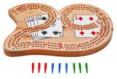 Features a unique shaped, 3 track cribbage board by Mainstreet Classics. Includes 9 colored pegs with a slotted channel for peg storage. Man Cave Games, Cribbage Board, 9 Game, Wooden Projects, Wood Construction, Board Games, Kids Rugs, Shapes, Classic