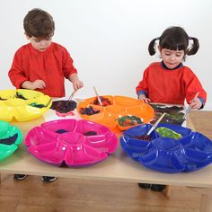 Flower Sorting and Paint Trays - Mathematics - Early Years | EYP Direct
