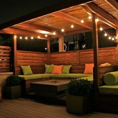 Pergola and seating area ideas. I like this idea for along the back fence! #PinMyDreamBackyard