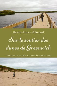 Le sentier des dunes de Greenwich est situé dans la partie ouest du Parc National de l'Île-du-Prince-Édouard au Canada. Sur un long trottoir flottant, on traverse l'étang Bowey pour admirer un paysage surréel fait de dunes paraboliques. Dune, Road Trip, Canada, Parc National, Prince Edward Island, Nova Scotia, Beach, Water, Outdoor