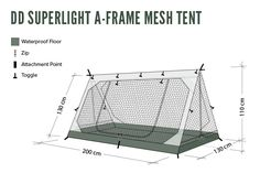Cover: DD SuperLight - A-Frame - Mesh Tent Spacious & bug-proof with a waterproof floor