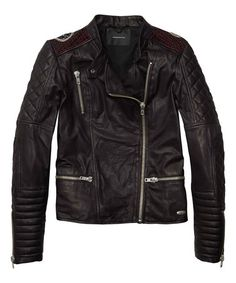 Another great find on #zulily! Black Leather Moto Jacket #zulilyfinds