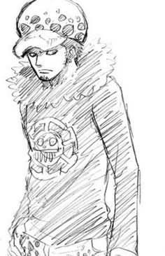 Trafalgar D. Water Law One piece sketch