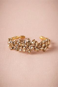 Champagne Crystal Bracelet in Shoes & Accessories Jewelry at BHLDN