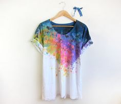 This can be my next concert tee diy! Splash dye.