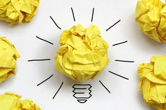 Inspiration concept crumpled paper light bulb metaphor for good idea - stock photo Marketing Digital, Content Marketing, Social Media Marketing, Marketing Ideas, Facebook Marketing, Inbound Marketing, Internet Marketing, Marketing Report, Guerilla Marketing