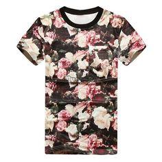 Ladies Women Oversize Unisex Men Floral Print Top T Shirt M L XL Hot Sale New | eBay