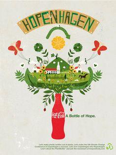 Andrew Bannecker creates wonderful illustrations for Coca Cola.