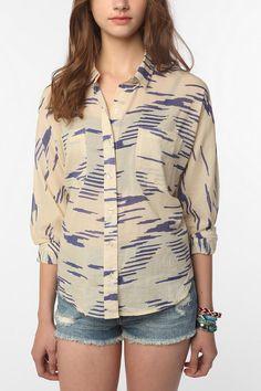 BDG Breezy Printed Dolman Shirt  #UrbanOutfitters