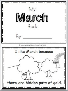 """Free March Mini Book for Kindergarten Practice reading the high frequency word """"like, because, there, are, it, is"""" in this book. There are 10 pages in this mini book. You can print and use all the pages or just the ones that you prefer to use. The final page is blank to allow students to …"""