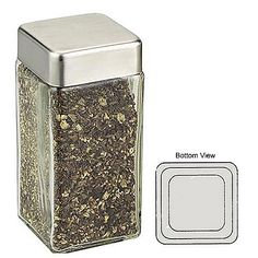 spice containers glass | Premium Square Glass Spice Jars | Freund Container & Supply