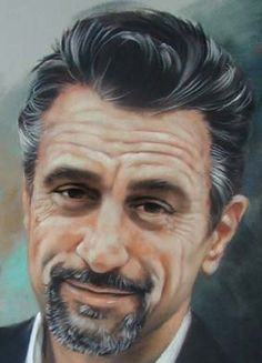 Robert de Niro, art portrait lesson, pastels