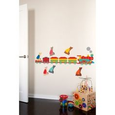 Blik Wall Decal - Stick the Bear on the Circus Train #blikwalldecals