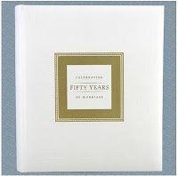 Celebrating 50 years of Marriage Keepdake Memory Book.  Larger size Memory Book.