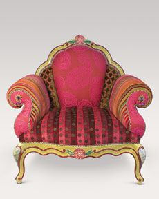 Colorful Wood Frame Cushion Arm Chair - Reading chairs need to be comfortable, but if they can so that and be curiously odd then they're twice as nice.