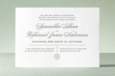 Notable invitation by Olivia Raufman for Minted