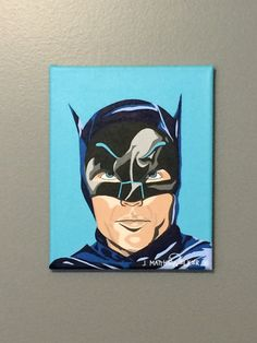 "8""x10"" ORIGINAL Adam West Batman 'In The Year Of Our Bat 1966' acrylic painting by JMatthewWelker. Superhero Pop Art, Adam West Batman, The Originals, Unique Jewelry, Handmade Gifts, Painting, Fictional Characters, Etsy, Vintage"